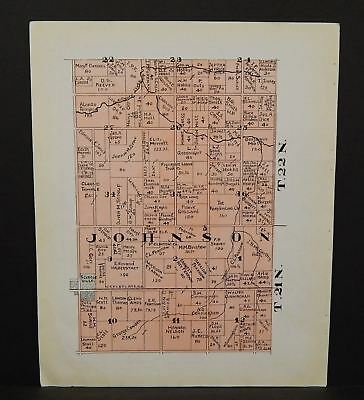 Indiana Tipton County Map Johnson Township 1928 Y14#17