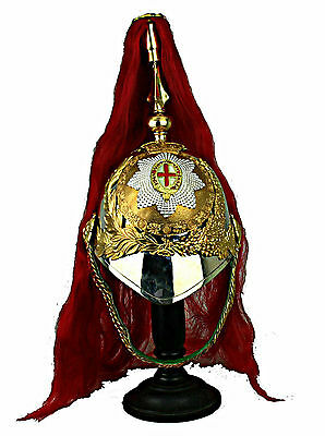 Royal Horse Guards Helmet Shako Pickelhaube Offizier Helm Larp England UK  L118