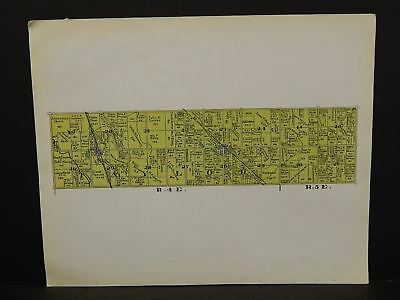 Indiana Tipton County Map Taylor Township 1928 Y14#23