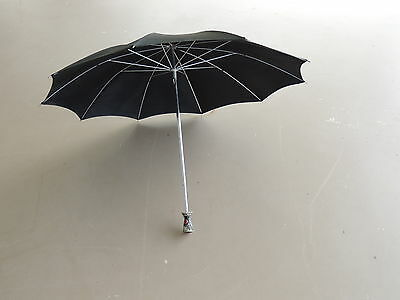 Vintage Umbrella Parasol with Ruby Jeweled Handle