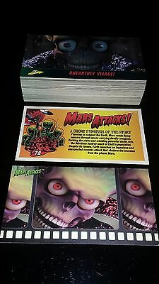 1996 Topps*Mars Attacks Widevision  Si-Fi Movie Set 1-72 +PROMO CARD  MINT!