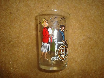 Lovely Tintin Glass - 1983 Lombard - series of 6 - buy individually - very rare.