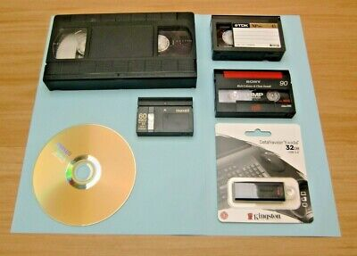 VIDEO TAPE TRANSFER TO DVD.  VHS & VHS-C  Tapes