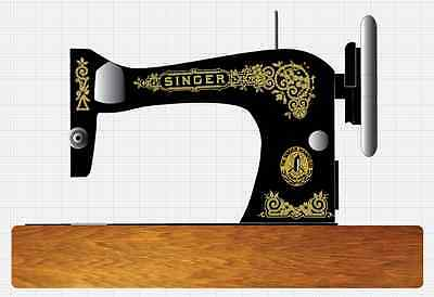 Singer Model 28/128 Gingerbread Style  Sewing Machine Restoration Decals