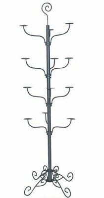 Store Display Fixtures GRAY BOUTIQUE STYLE MILLINERY HAT RACK FLOOR STAND