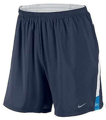 "NEW Nike Men's Dri-Fit 7"" Blue Distance Running Training Shorts 695441-410 M MD"