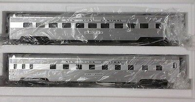 MTH Premier O 2-Car Set 70' Streamline Passenger NEW YORK CENTRAL Diner Sleeper