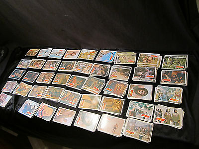 Planet of the Apes Topps Trading Cards - Lot Green Backs (126 Cards Total)
