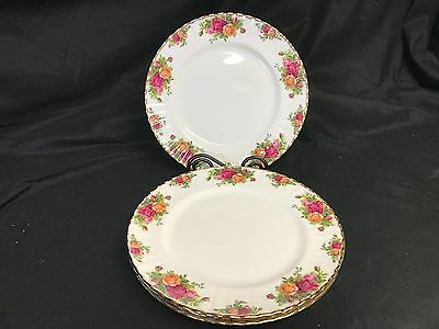 """Royal Albert """"OLD COUNTRY ROSES"""" ~ Set of 4 ~ Dinner Plates ~ 10 3/8"""""""