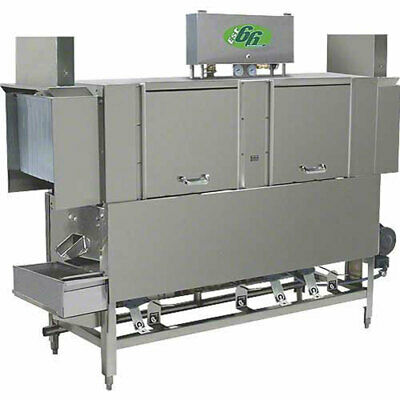 "CMA Dishmachines EST-66L 66"" Low Temp Conveyor Dishwasher 242 Racks Per Hour"