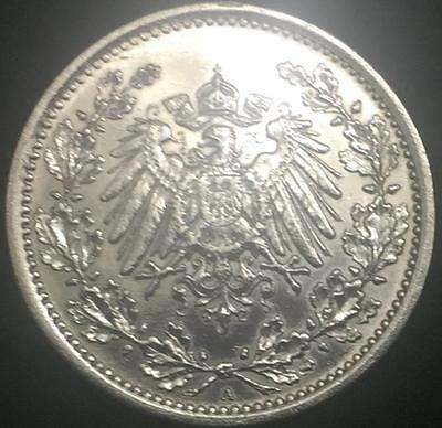 German Half Mark SILVER Coin - World War 1 RARE Authentic Coin- Great Investment