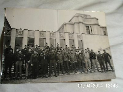 """1945, 7"""" X 5"""" Black and White Photo of US Servicemen, maybe 82nd Airborne, in Pa"""