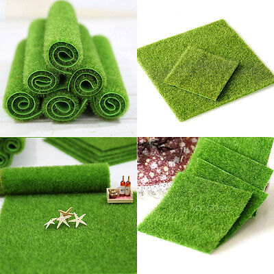 2 Size Artificial Grass Fake Lawn Grass Miniature Dollhouse Home Garden Ornament