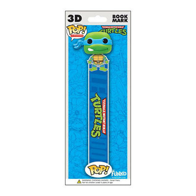 Funko POP! 3D Bookmark - TMNT - LEONARDO (Blue) - New