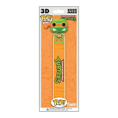 Funko POP! 3D Bookmark - TMNT - MICHELANGELO (Orange) - New
