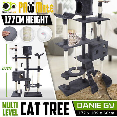 Cat Tree Scratching Post Scratcher Pole Gym House Furniture Multi Level 170cm GY