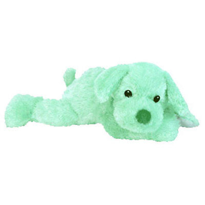Baby TY - CUDDLEPUP the Dog (Green Version) (12.5 inch) - MWMTs BabyTy Stuffed