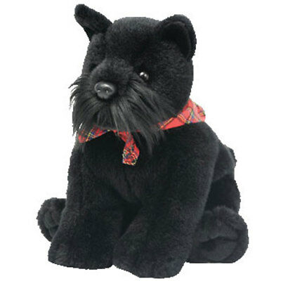 TY Classic Plush - DOUGAL the Black Dog (9 inch) - MWMTs Stuffed Animal Toy