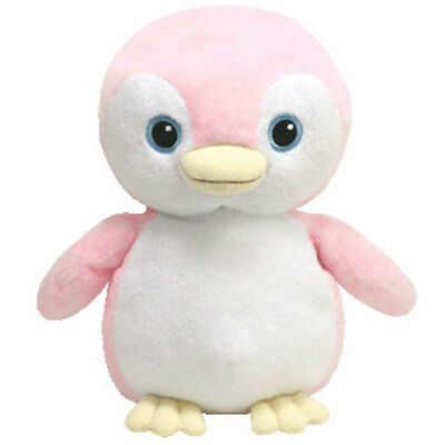 TY Pluffies - PAMMY the Pink Penguin (8.5 inch) - MWMTs Stuffed Animal Toy