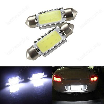 2X 38mm COB LED C5W 239 272 Festoon Dome Bulb Number Plate Light White No Error