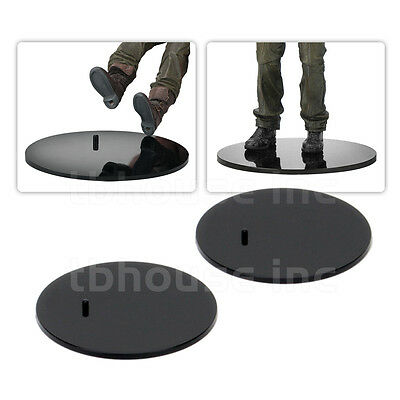 """NECA 10x ACTION FIGURE DISPLAY STANDS black FOR Most 6-8/"""" plastic 3.5/"""" Round"""