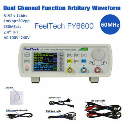 FY6600 60MHz Dual-channel DDS Function Waveform Signal Generator Counter Kit coi