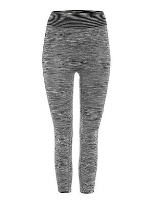 Pepper & Mayne Yoga Barre Seamless Compression Leggings Grey 8-14 RRP £60 *BNWT