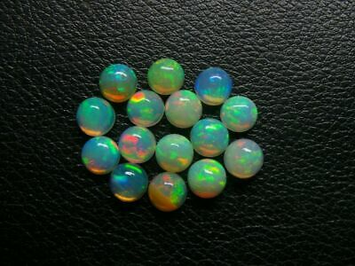 5 Mm Round Natural Ethiopian Welo Fire Opal Cabochon's Calibrated ##ddl457
