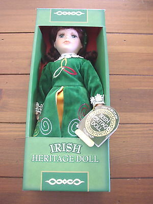 "Maura, The Irish Dancer, 12"" standing Irish Heritage Porcelain Doll"