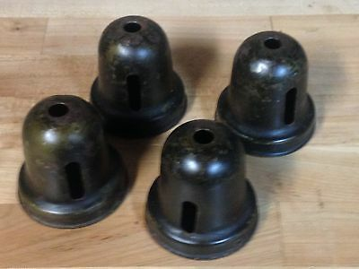 4 Antique Vintage Chandelier Light Fixture Socket Cup Shade Fitter Parts