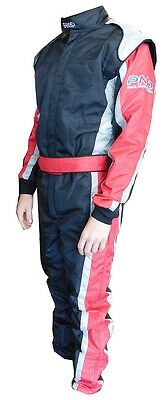 Karting race suit LARGE size  RED/BLACK/SILVER