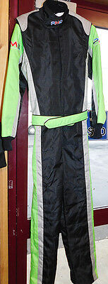 Karting race suit YOUTH XL size  GREEN/BLACK/SILVER