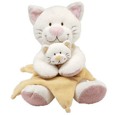 Baby TY - CUDDLEKITTY the Cat (Holding Blanket) (13 inch) - MWMTs BabyTy Stuffed
