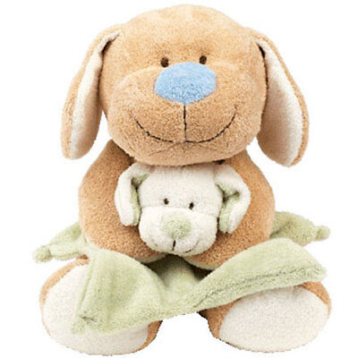 Baby TY - SNUGGLEPUP the Dog (Holding Blanket) (13 inch) - MWMTs BabyTy Stuffed