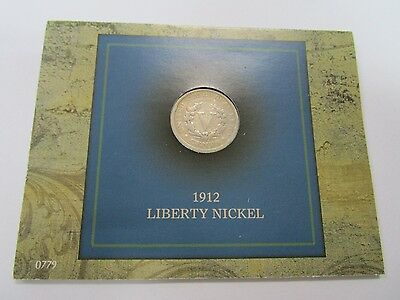 1912 USA Liberty Nickle, Carded and in F Condition