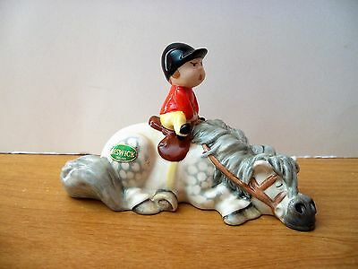 Royal Doulton BESWICK   Thelwell   KICK-START  1st Variation  Retired 1989
