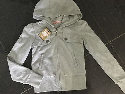 NWT Juicy Couture New & Genuine Girls Age 8 Grey Cotton Hoody With Juicy Logos