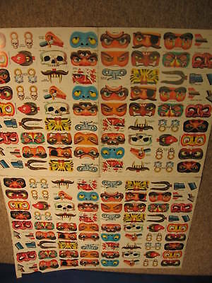 1967 Topps Disgusting Disguises Uncut Sheet 144 Cards