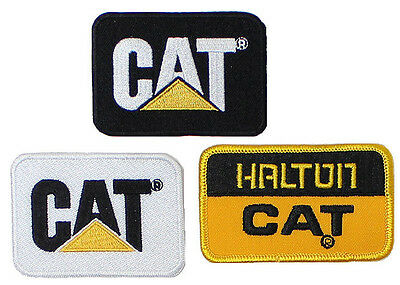 3 Caterpillar Embroidered CAT Equipment Logo Patches NEW Iron-On 2x2.75""