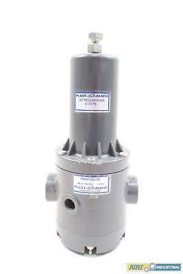 Plast-O-Matic Prhm100V-Pv 1 In Npt Thermoplastic Pressure Regulator D572372