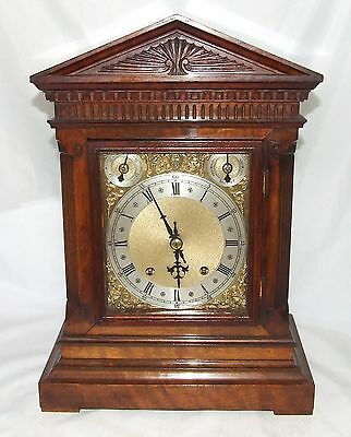 Antique Walnut Bracket Mantel Clock WINTERHALDER HOFFMEIER W & H : SERVICED