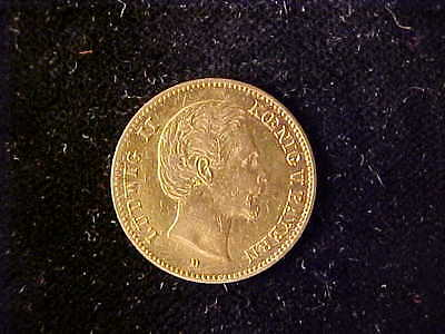 Bavaria Gold 5 Mark 1877 Vf