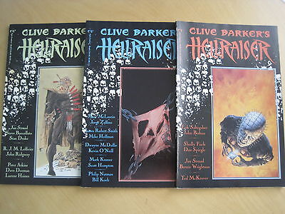 CLIVE BARKER 's HELLRAISER issues 1, 2 & 3. ( 3 in TOTAL ). MARVEL /EPIC 1989
