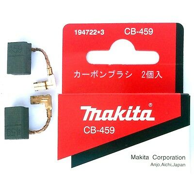 Makita GA4530 Angle Grinder CB459 Carbon Brushes Genuine Original Part 194722-3