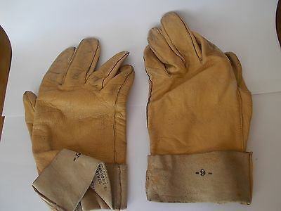 Vintage US NAVY FLYING GLOVES LEATHER Summer B-3A MIL-G-9087A Size 9 USN Pilot