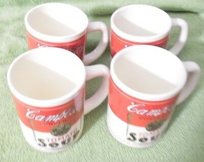 4 Campbell's Coffee-Soup Mugs