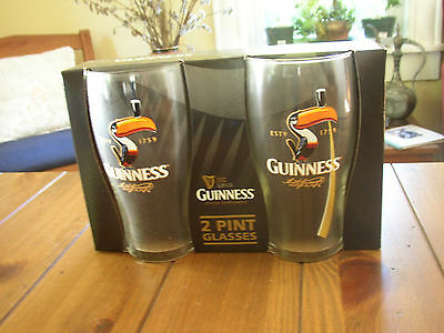 Guinness Toucan Pint Glass Gift Set, 2 Glasses, Boxed