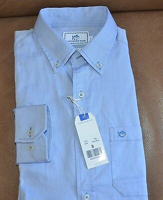 NWT $99.50 Southern Tide Men's Oxford Button Front Blue Shirt Size SMALL