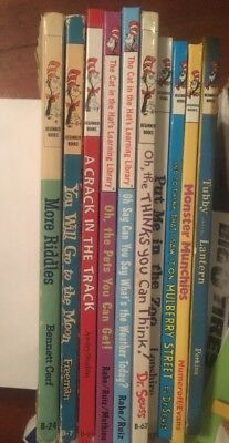 Lot 10 Dr SEUSS BEGINNER BOOKS NEW & Old Tubby, Weather, Mulberry St, Think