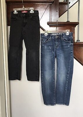 *Levi's/Brothers* Boys 2 Pair LOT of Skinny Fit Jeans- Size 7